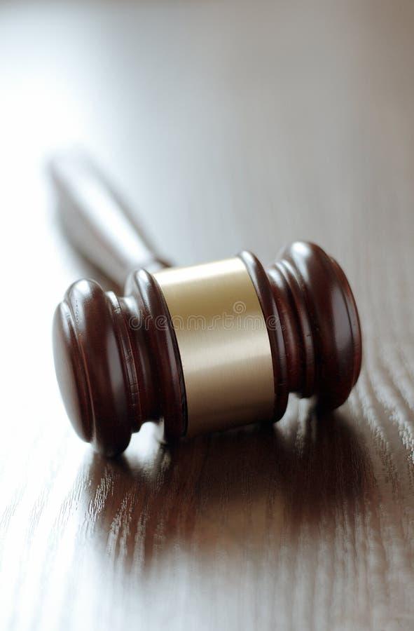 Wooden judges gavel royalty free stock photos