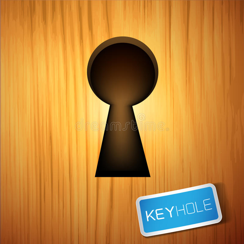 Download A wooden Keyhole stock vector. Image of keyhole, closed - 26272790