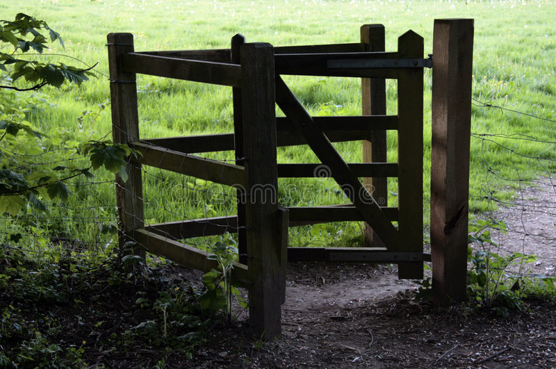 Wooden kissing gate royalty free stock image