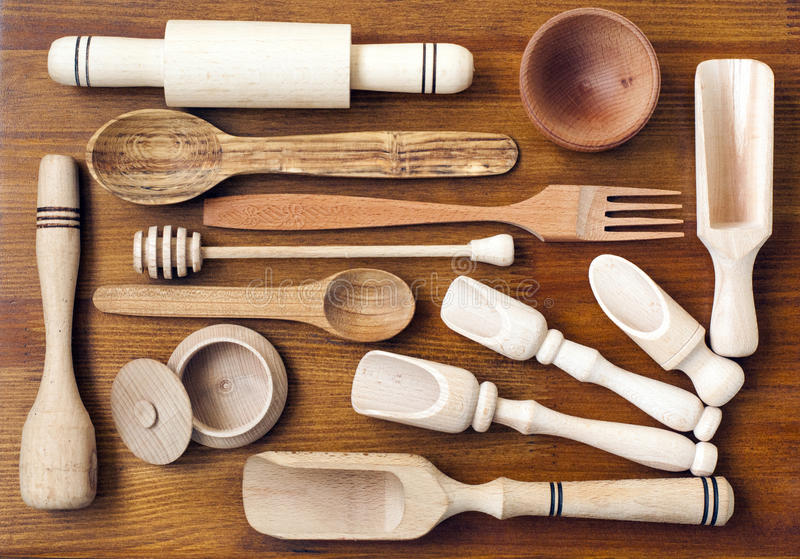 Download Wooden Kitchen Utensils Stock Image. Image Of Cooking   70930311