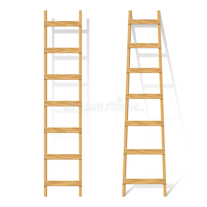 Free Wooden Ladder Royalty Free Stock Images - 16608059