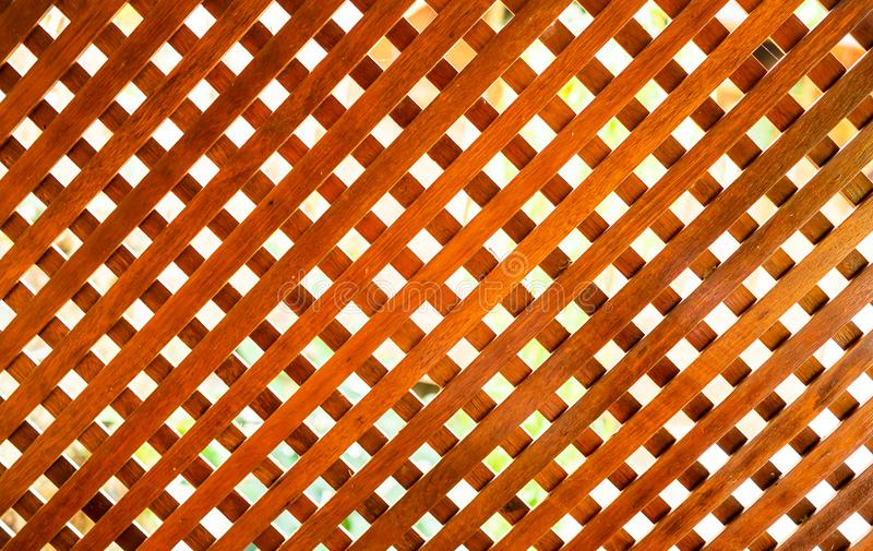 Wooden lath. This wooden lath made from teakwood in Thailand royalty free stock images