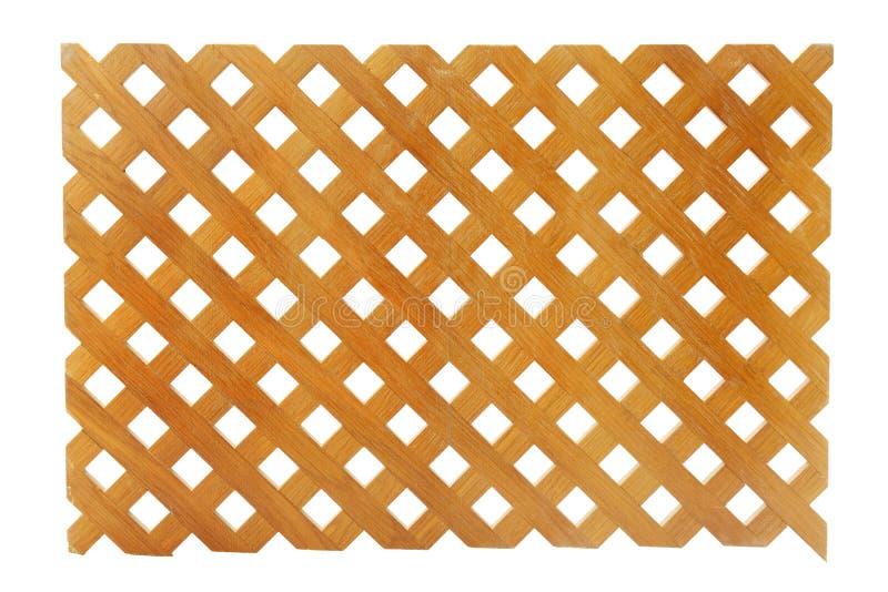 Wooden lattice. On white background stock images