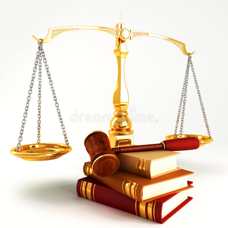 Download Wooden Law Gave On Pile Of Colorful Book Stock Photography - Image: 25067362