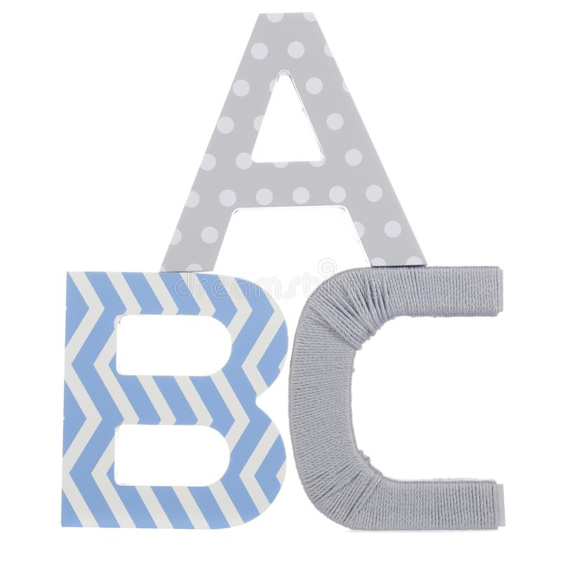 Wooden letters ABC for learning royalty free stock photo