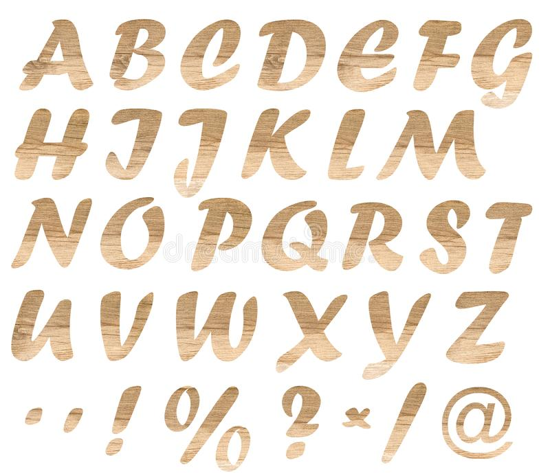 Wooden letters stock photography