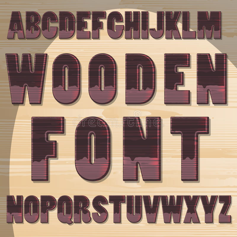 Wooden letters stock illustration