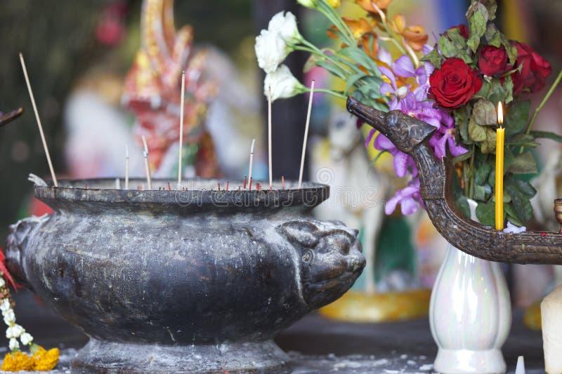 Wooden lingams offerings Princess Phra Nang Cave, Railay peninsula, Thailand royalty free stock photos