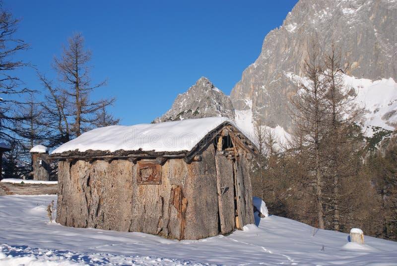 Wooden lodge 1 stock photo