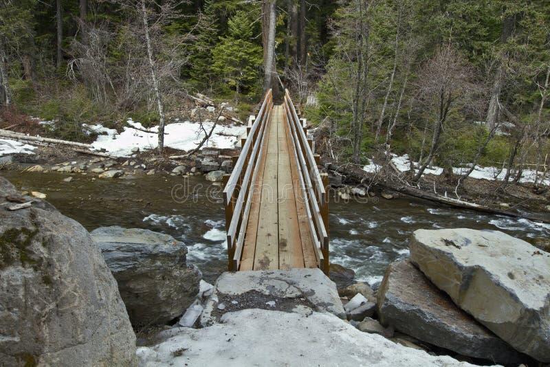 Download Wooden Log Bridge Over River Stock Photo - Image: 13543046