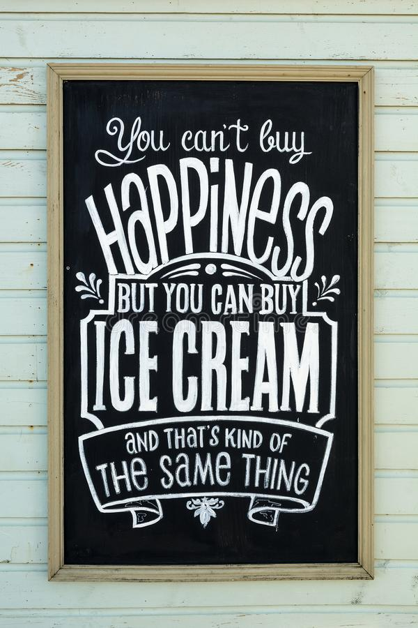 Wooden logo board ice cream royalty free stock photos