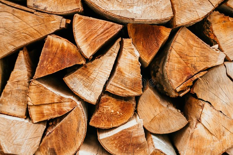 Wooden logs texture stock photography