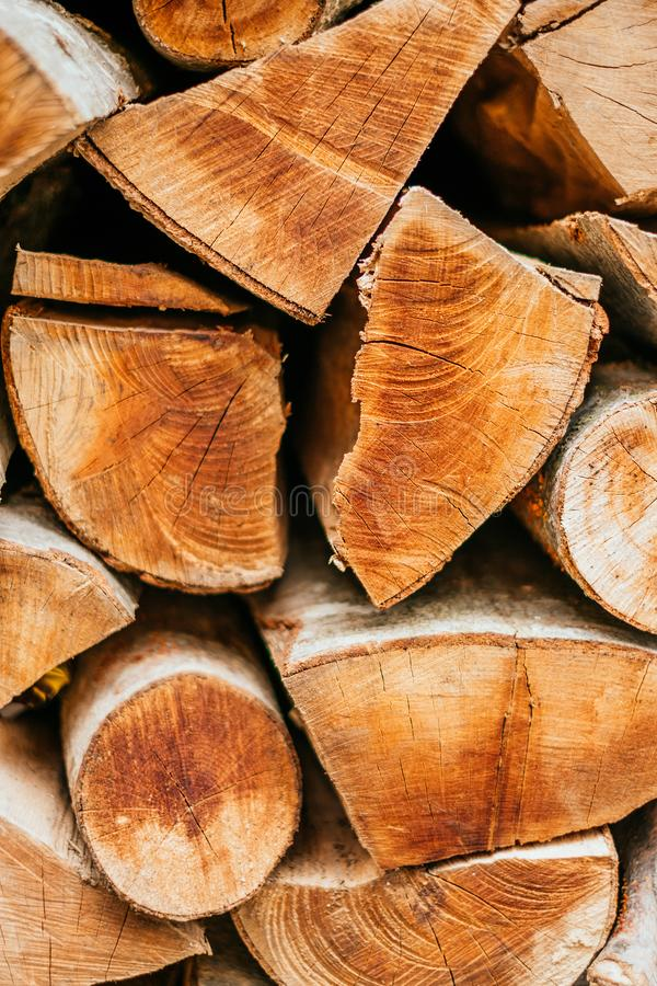 Wooden logs texture royalty free stock photo