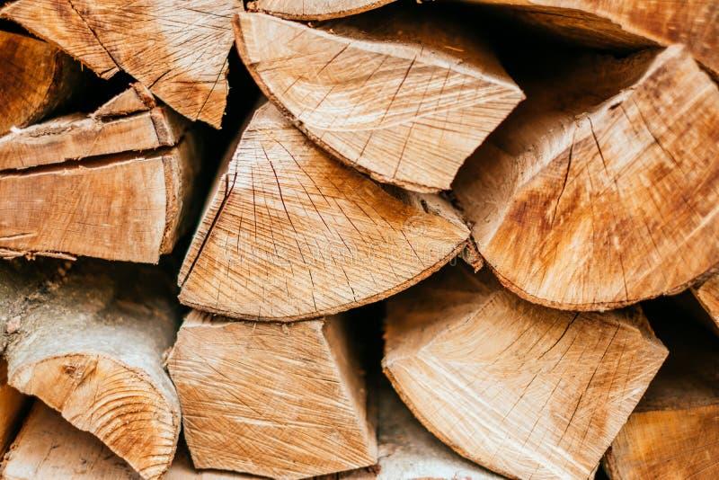 Wooden logs texture stock photo