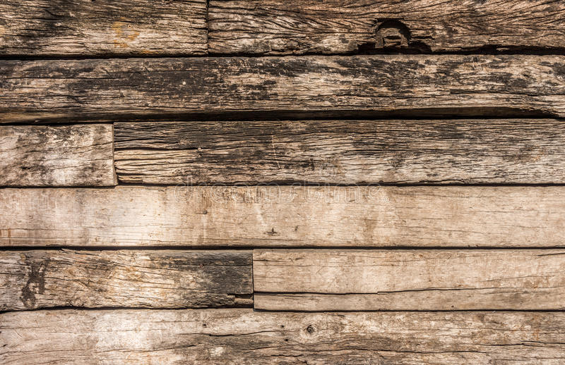 Wooden logs wall. Of rural house for background and texture stock image