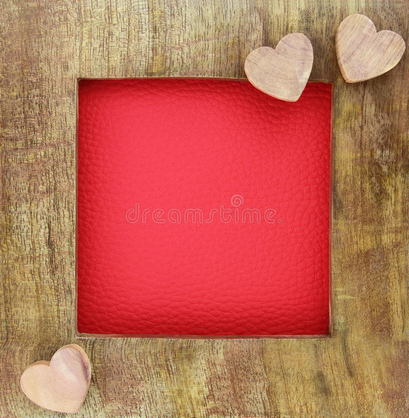 Free Wooden Love Frame Stock Image - 28641001