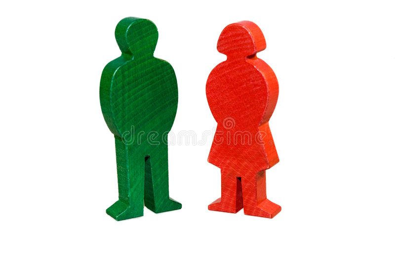 Download Wooden Male Female Figurines Stock Photo - Image: 4876090