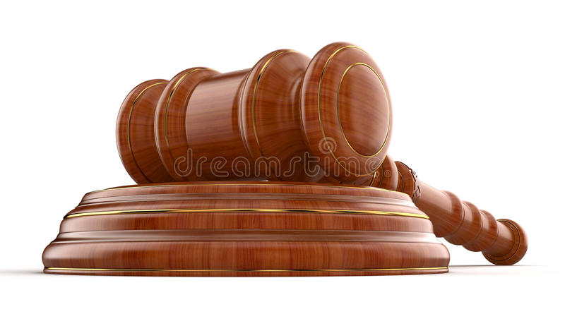 Download Wooden Mallet stock illustration. Image of exchange, legislation - 33986738