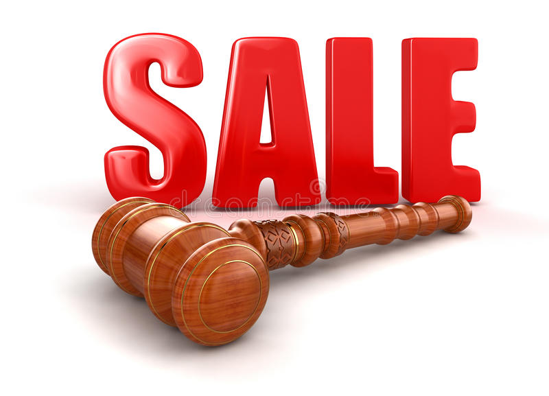 Download Wooden Mallet And Sale Royalty Free Stock Photos - Image: 33986718