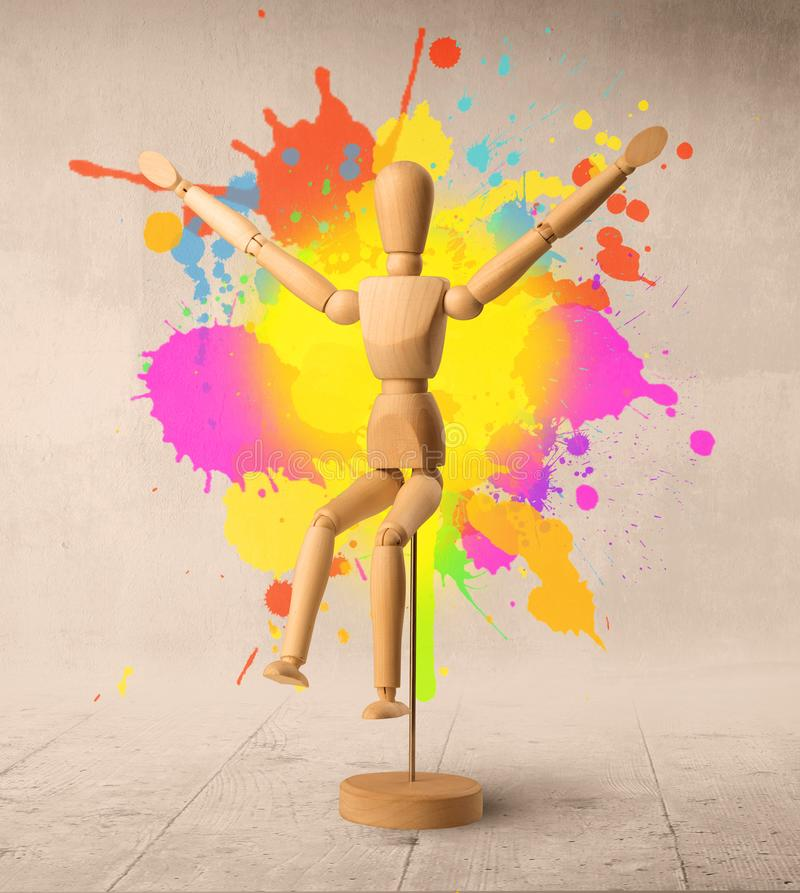 Wooden mannequin c royalty free stock image