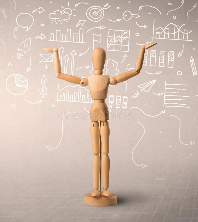 Wooden mannequin c royalty free stock images
