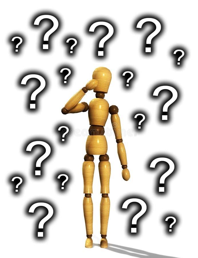 Download Wooden Mannequin Confused stock illustration. Illustration of pose - 7213560