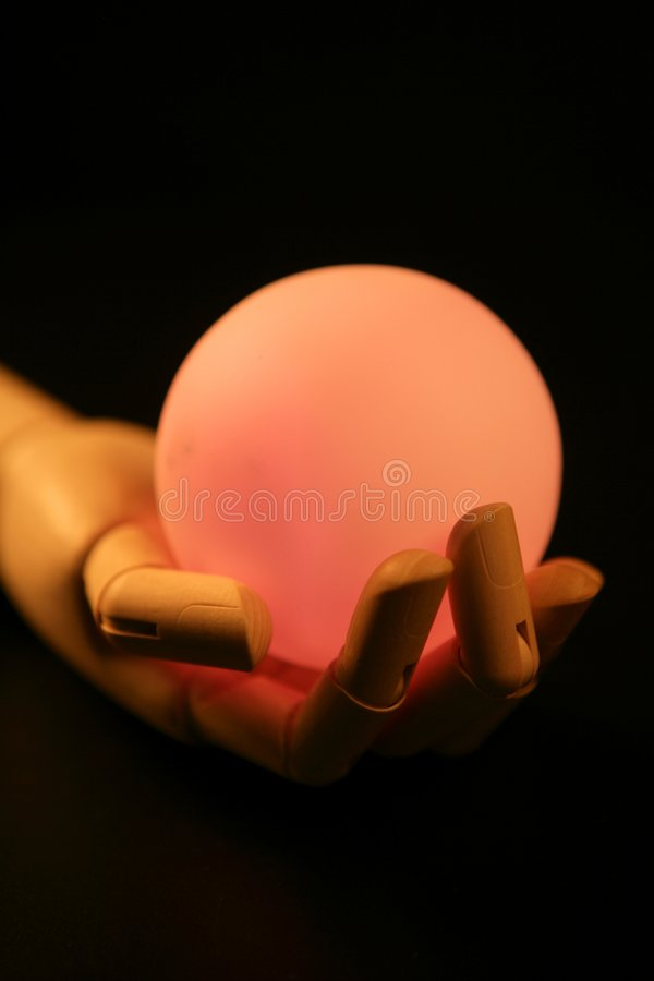 Download Wooden Mannequin Hand, Light Ball, Fortune Stock Image - Image: 7538469