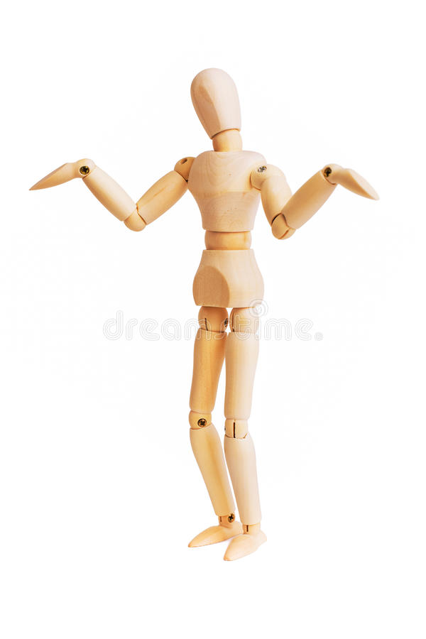 Free Wooden Mannequin Isolated On White Stock Photos - 44625363