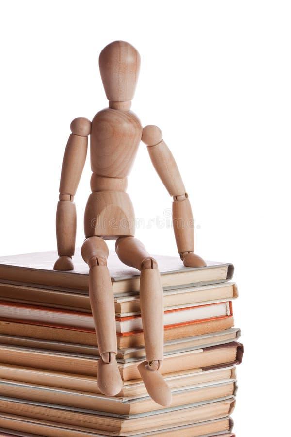 Wooden mannequin man from Ikea gestalta. stock photos
