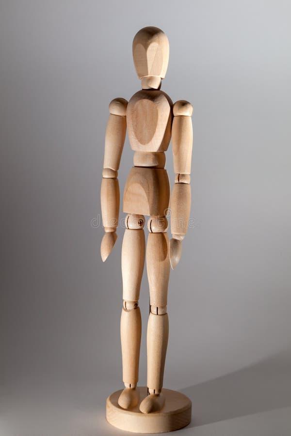 Wooden Mannequin standing. Shot of wooden Mannequin standing stock photos