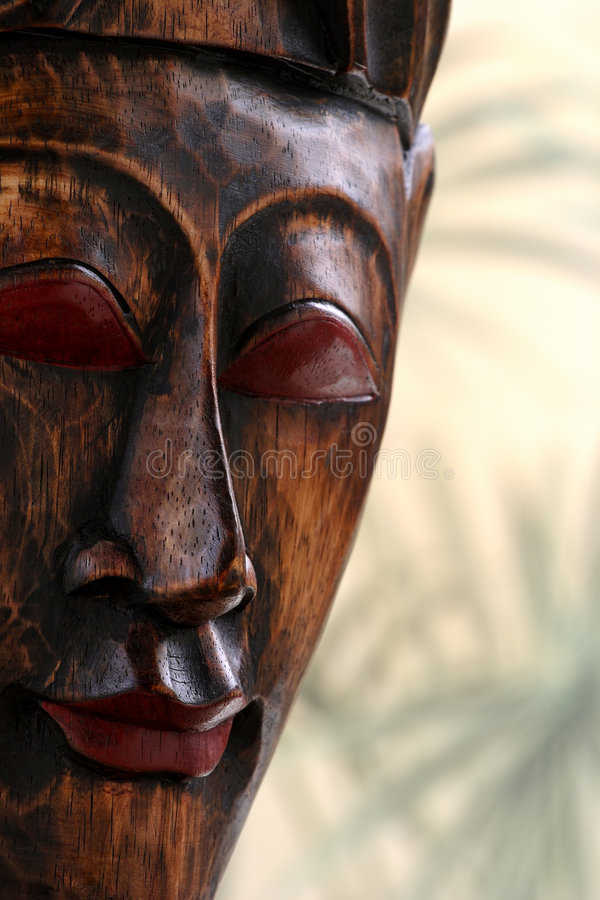 Download Wooden mask stock photo. Image of carved, ethnic, face - 5786706