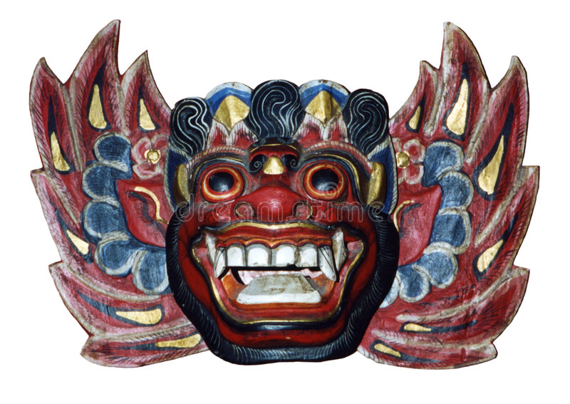 Wooden mask royalty free stock photo
