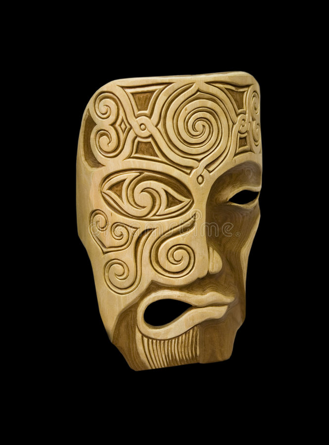 Wooden mask royalty free stock image