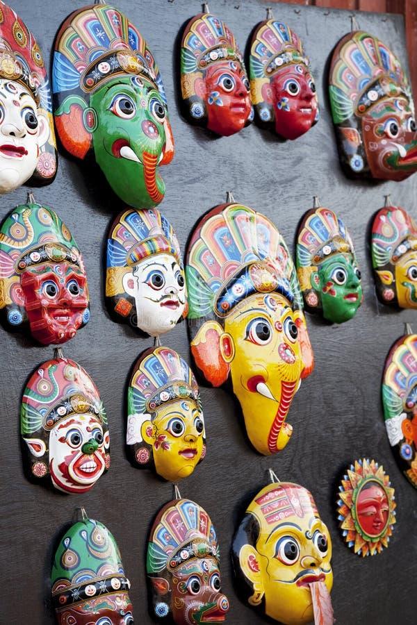 Download Wooden Masks, Bhaktapur, Nepal Stock Image - Image: 12574781