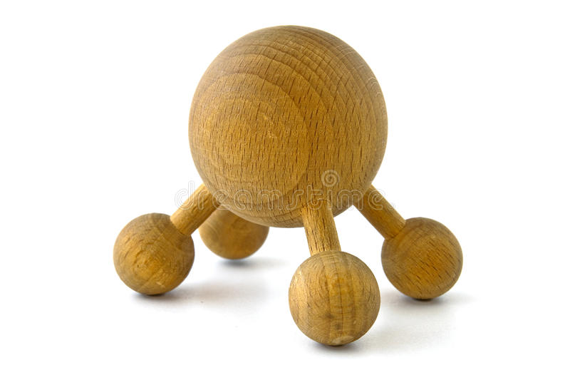 Wooden massage tool royalty free stock image