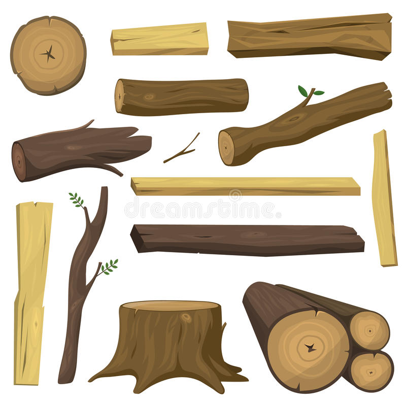 Free Wooden Materials Tree Logs Vector Isolated Royalty Free Stock Images - 85524239