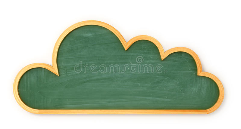 Wooden menu board or school forms in clouds royalty free stock photos