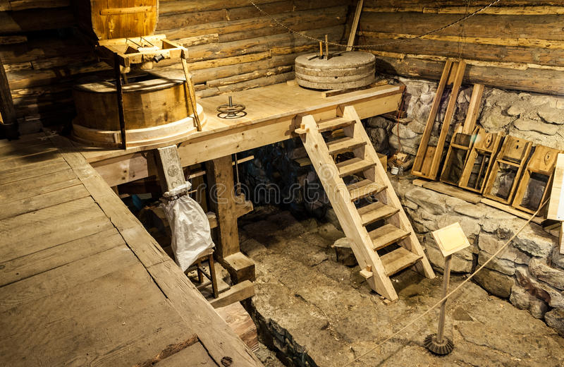 Download Wooden mill inside stock photo. Image of equipment, produce - 33732838