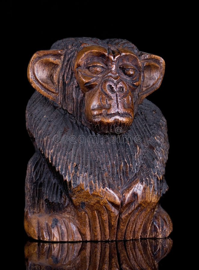 Free Wooden Monkey Statue Stock Photography - 2280192