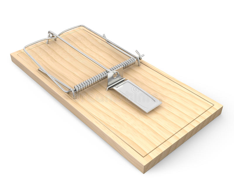 Download Wooden mouse trap stock illustration. Image of pest, empty - 23071219