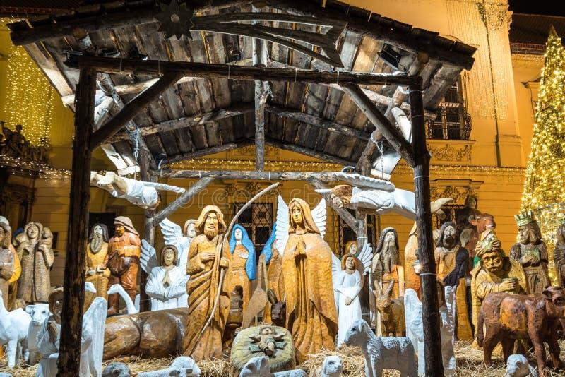 Wooden nativity scene, Brno, Czech Rebublic. Europe royalty free stock images