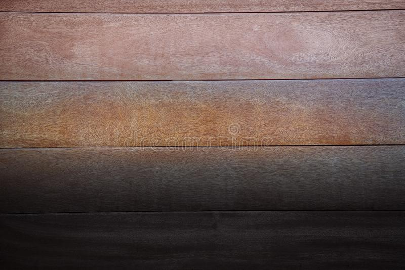 Wooden natural Board for interior and decoration dark brown stock images