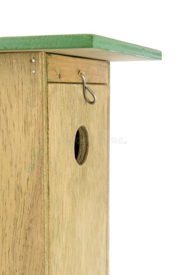 Wooden nesting box in closeup