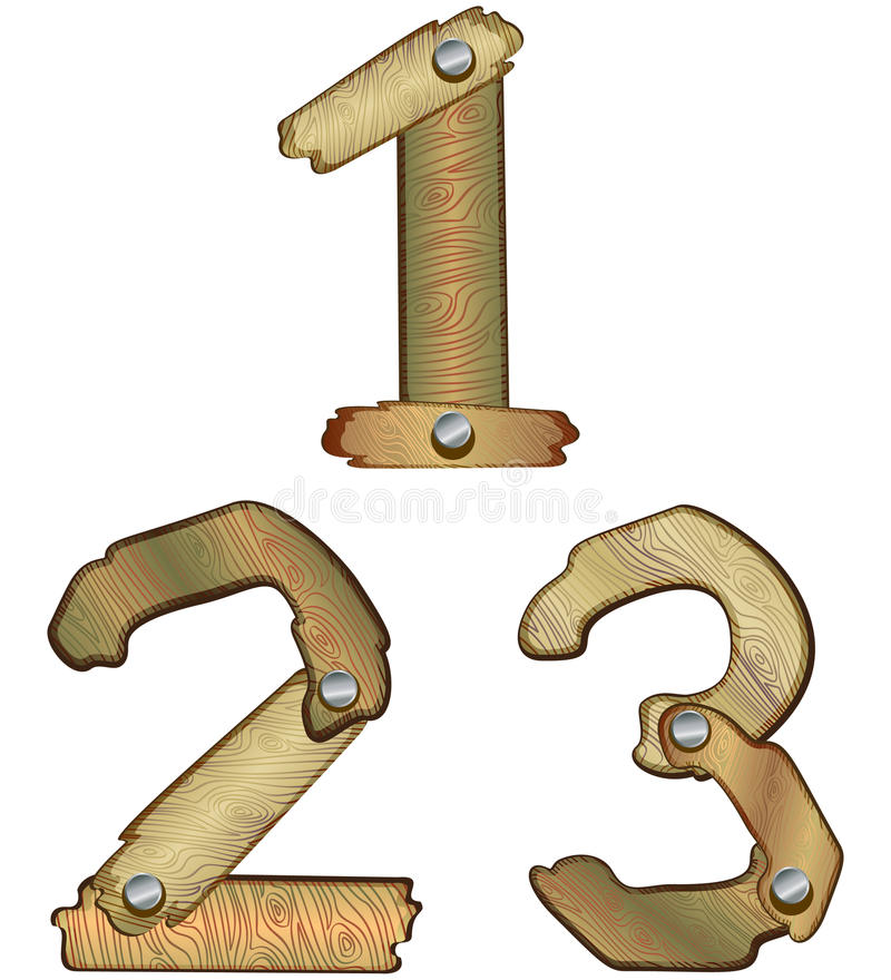 Download Wooden numbers stock vector. Image of design, math, bark - 11336848