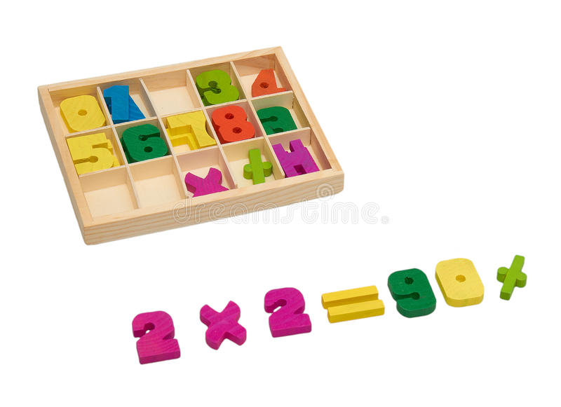 Wooden numbers, sale stock photos