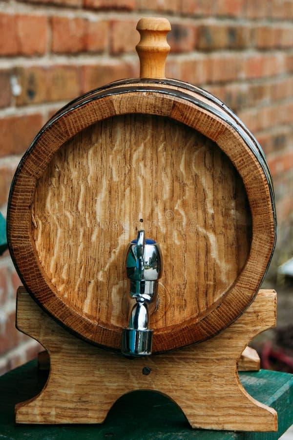 Wooden oak barrel royalty free stock photo