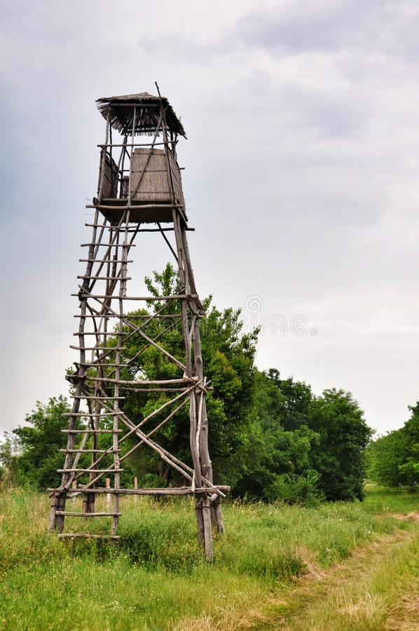 Free Wooden Observation Tower Stock Photography - 55770752