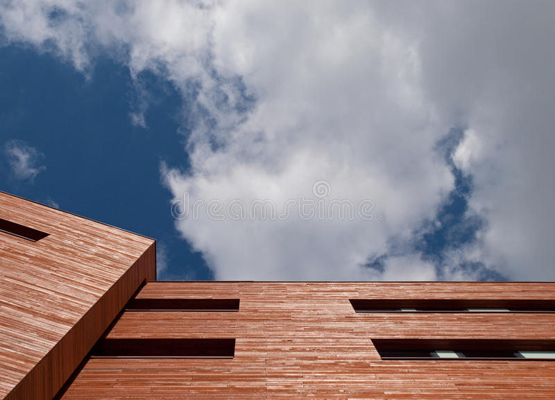 Wooden office facade stock photo