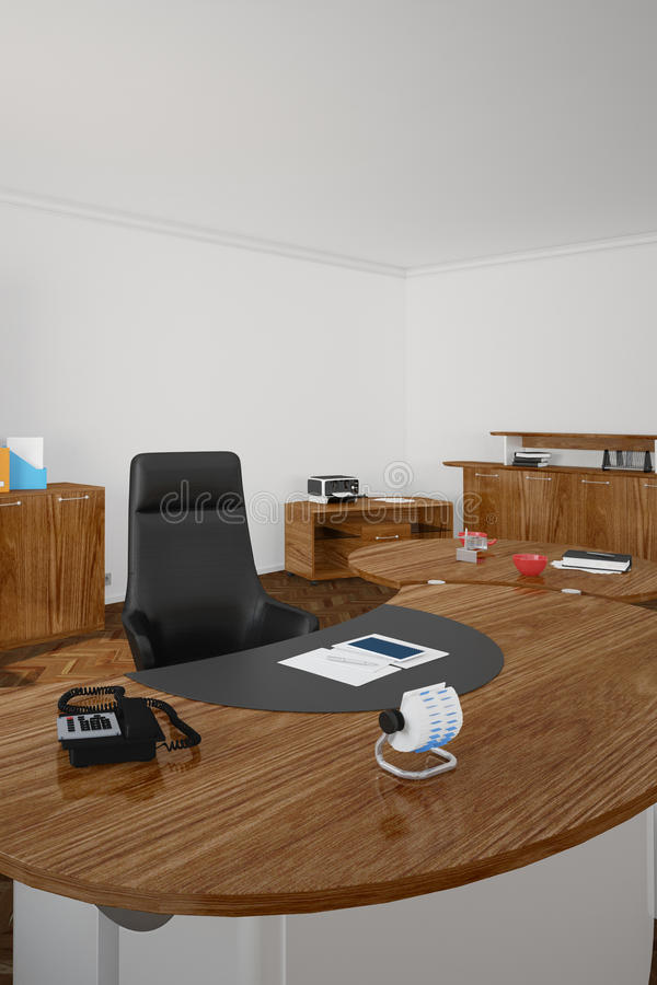 Download Wooden office upright stock illustration. Image of equipment - 35664258