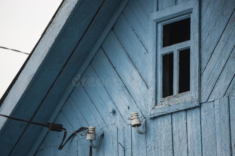 Wooden old house window stock photos